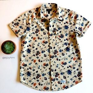 CPO floral chambray button down